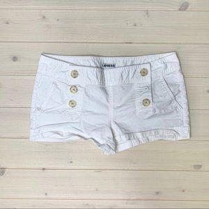 Express White Jean Shorts Size 4 Two Pockets